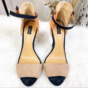 Zara Colorblock Kitten heels